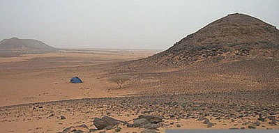 Camping at the Meroe Pyramids in Sudan