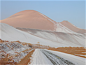 Pix mountains outside Turpan in minus 35 temperatures