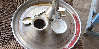 Pix Ethiopian coffee, shown in Kassala, East Sudan