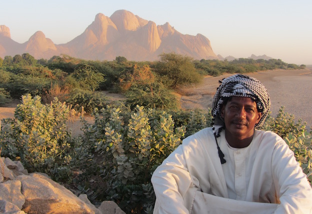 Kassala resident near the Gash river