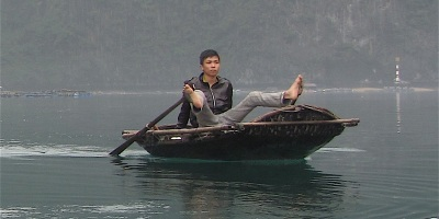 Pix man rowing with his feet