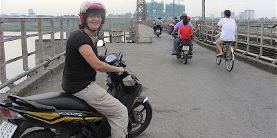 Pix Ali on motorbike