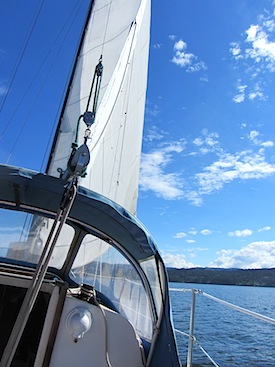 Sailing in Pelegrin in the Gulf Islands