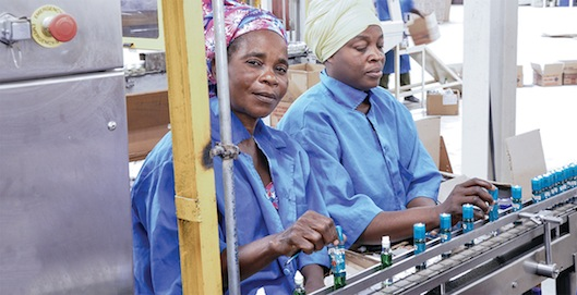 Pix of Bint el Sudan and workers at W. J. Bush & Co. (Nig) Ltd. factory in Kano, Nigeria