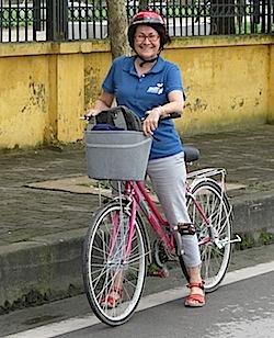 Pix Chris on her bike